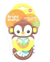 New Bright Starts Shakin Safari Monkey Baby Rattles for 3 Month old +