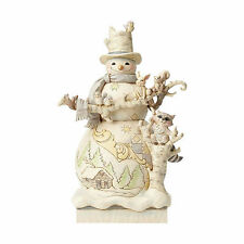 Jim Shore Heartwood Creek White Woodland Snowman Statue 4058733