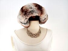 """RABBIT FUR HAT + Black Bow Vintage Couture. Circumferance 22.5""""; Diameter 6.75"""""""