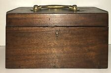 Antique Georgian Empire Mahogany Tea Caddy 18/19Th Century