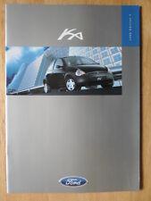 FORD KA 1998-99 UK Mkt sales brochure - Ka2 Ka3 Edition 3