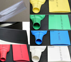 20-80mm Diameter Polyolefin 2:1 Heat Shrink Tubing Wrap Wire Cable ROHS UL