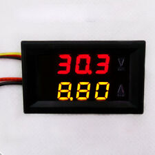 New LED Volt Meter w/Shunt Digital Voltmeter Ammeter For 12V 24V Car 100V 10A DC