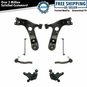 8 Piece Suspension Kit Lower Control Arms w/ Ball Joints Sway Bar Links Tie Rods