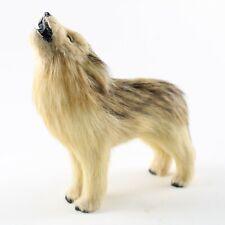 Timber Wolf Fur Figurine – Soft Animal Statue – Realistic Handmade Sculpture