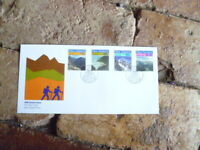 1988 NEW ZEALAND  FIRST DAY COVER SCENIC ISSUE SET OF 4 STAMPS HIKING