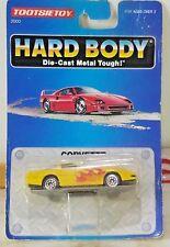 TootsieToy Hard Body 1992 die cast metal Corvette Yellow w Flames 1:64 scale NEW