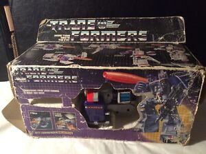 VINTAGE 1986 TRANSFORMERS G1 DECEPTICON CITY COMMANDER GALVATRON BOXED
