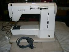 MACHINE A COUDRE ELNA Zig Zag - 220Volts à BRAS LIBRE MALLETTE