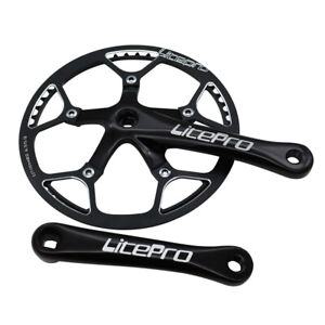 LITEPRO Folding Bike Crankset Crank Arm 170mm Chainring 130BCD 45/47/53/56/58T