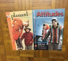 LOT de 2 catalogues tricot PLASSARD n° 51 et 52 /Enfants 6 à 12 ans et 15/24 ans