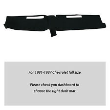 Fits For 1981-1987 CHEVROLET FULL SIZE TRUCK DASH COVER MAT DASHBOARD COVER BLK