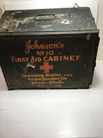 Vintage Johnsons No.10 First Aid Cabinet Metal Box Good Condition Rare