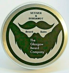Vetiver & Bergamot Beard Balm 100% Natural & Organic Ingredients, 30Ml / 1Oz.