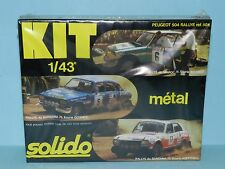 SOLIDO 1/43 Peugeot 504 Rally. Kit. FACTORY MINT BOXED