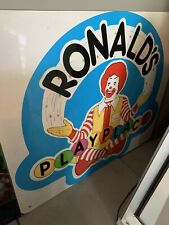 🍔 McDonald's Ronalds PlayPlace Sign From Actual Store