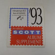 Scott Minuteman #25 1993 Supplement 180S093 Stamp Album Pages