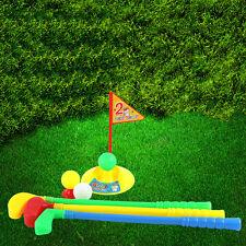 1 Set Multicolor Plastic Golf Toys for Children Outdoor Backyard Sport Game BE