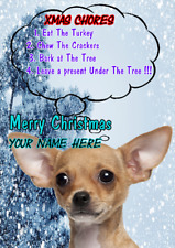 Chihuahua Dog ptcc279 Christmas Xmas Card A5 Personalised Greetings Cards