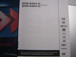 GEBRAUCHSANLEITUNG für PIONEER DVD-Recorder DVR-545/645H-S in HOLLÄNDISCHER Spr.