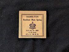 Hamilton Watch Mainspring - 14/0s - 4 x 11 / 100MM - No 5021 - NOS