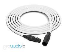 Canare Quad L-4E6S Cable | Neutrik Gold XLR-F XLR-M | White 75 Feet | 75 Ft. 75'