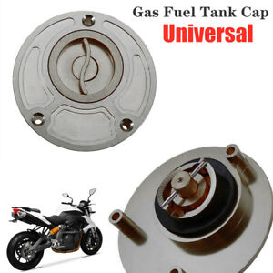 Universal CNC Motorcycle Scooter ATV Gas Fuel Tank Cap Cover Valve Breather Gray