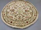 Circular Afghan Ziegler Rug 120 cm Handmade Chobi Rug Natural Dyes