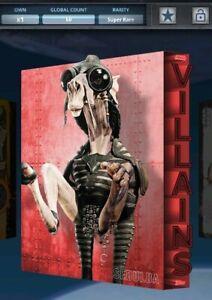 Topps Star Wars Card Trader - Villains Sebulba Red Super Rare Digital Card