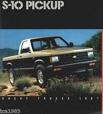 Big 1987 Chevy S-10 PickUp Truck Brochure: 4x4, Sport, Tahoe,Durango, Maxi-Cab,