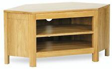Cotswold solid oak furniture corner television cabinet unit stand