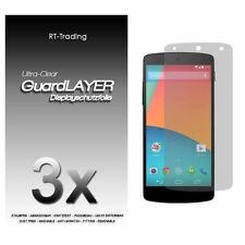 3x LG NEXUS 5 GOOGLE DISPLAY SCHUTZFOLIE KLAR FOLIE SCREEN PROTECTOR SCHUTZ