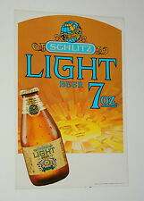 Rare Large Schlitz Light Beer 7oz Bottle Door Ad Sign Decal Beer New NOS 1977
