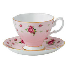 New Country Roses Pink Formal Vintage Cup & Saucer, By Royal Albert