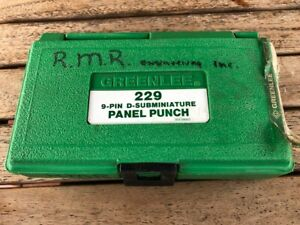 Greenlee 229 9-Pin D-Subminiature Panel Punch
