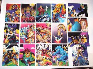 1991 X-MEN COMIC IMAGES BASE 90 CARD SET! MARVEL JIM LEE! WOLVERINE! MAGNETO!