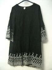 GAP Embroidered Bell Sleeve Dress- Black UK 10 JS003 HH 10
