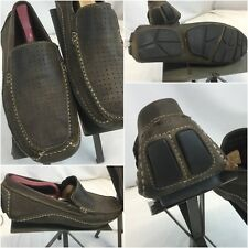 Clarks England Moccasins Shoes Sz 8 Men Brown Leather Brazil Worn Once YGI E8