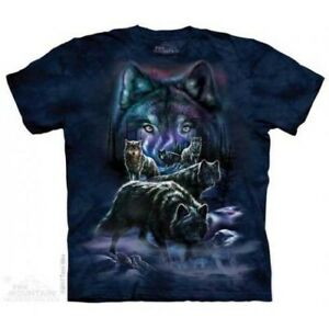 Mountain Adult T-shirt Wolf Pack