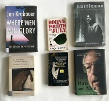 Biography Book Lot - 6 Books - Bob Dylan - Douglass - Kovic - Krakauer - Boxing