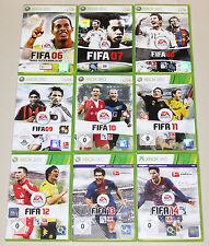 9 XBOX 360 SPIELE SAMMLUNG FIFA 06 07 08 09 10 11 12 13 14 FUSSBALL SOCCER