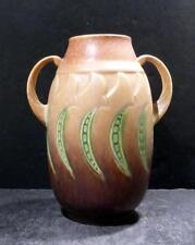 """Roseville Falline Tan Vase, 643-6"""" - MINT"""