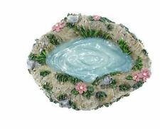 Wishing Pond, Pond with Rocks and Flowers, Spring Fairy Garden Water Feature