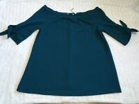 George Ladies Green Off The Shoulder Blouse Top Plus Size 20 Bnwt Womens