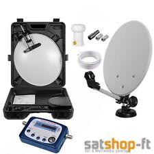 Camping Digitale Mobile mini SAT Anlage im Koffer Saugfuß Schüssel HD+ Satfinder