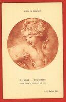 FRAGONARD- Peintre-Pinxit - 1732/1806- Rococo- -Jeune fille se pressant le sein