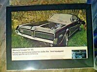 "1968 Mecury Cougar 302/390/427/V8 *Original* FOMOC print ""Ready to Display""ad"