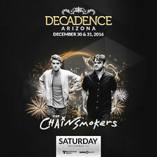 """THE CHAINSMOKERS 2016 """"NEW YEAR'S EVE CONCERT"""" PHOENIX TOUR POSTER - Dance Music"""