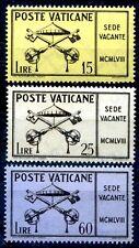 VATICANO 1958 - SEDE VACANTE SERIE NUOVA **