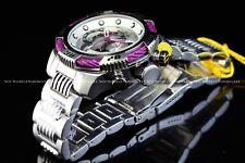 Invicta Men's Bolt 50mm Polish Steel & Purple Chronograph Quartz Bracelet Watch